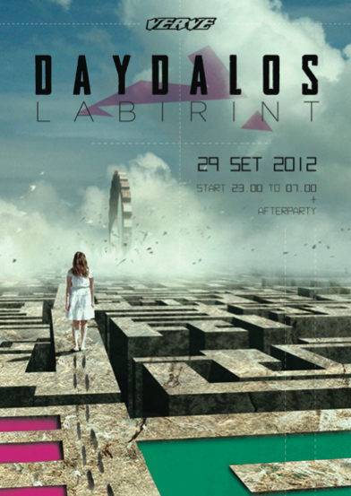 Party flyer: ~*~*~* DAYDALOS LABIRINT ~*~*~* 29 Sep '12, 22:00