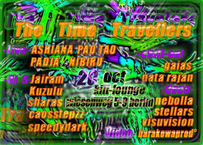 "((TtT))""The TiMe TrAveLeRs"" ((TtT)) *Dark-Hole Night* 20 Oct '12, 22:00"