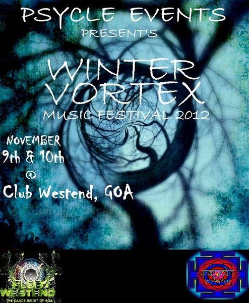 Party flyer: WINTER VORTEX MUSIC FESTIVAL 2012 10 Nov '12, 22:00