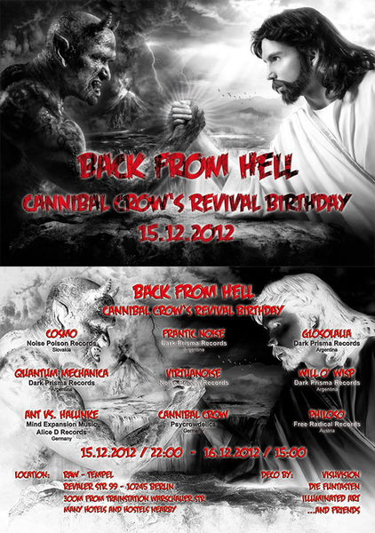 Back from Hell - Cannibal Crow\\\'s Revival Birthday 15 Dec '12, 22:00