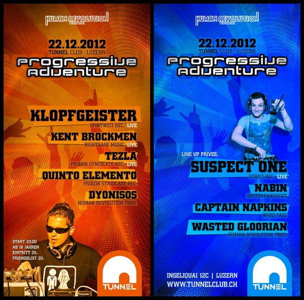 *Progressive Adventure* - Klopfgeister LIVE 22 Dec '12, 23:00