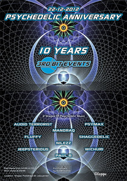 Psychedelic Anniversary - 10 Years 3rd BIT Events 22 Dec '12, 23:00