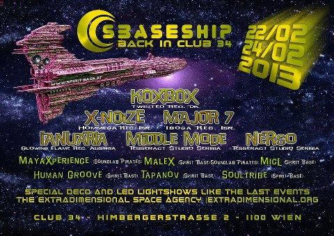 Party flyer: SBASE SHIP IS BACK IN CLUB 34 22 Feb '13, 22:00