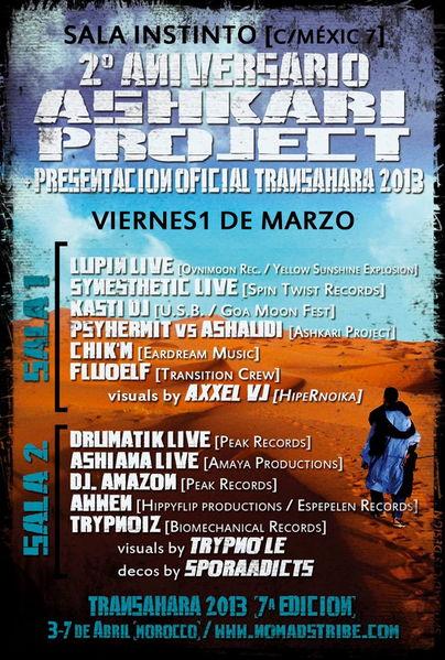 2 ANIVERSARIO ASHKARI PROJECT + PRESENTACION OFICIAL TRANSAHARA 2013 1 Mar '13, 23:30