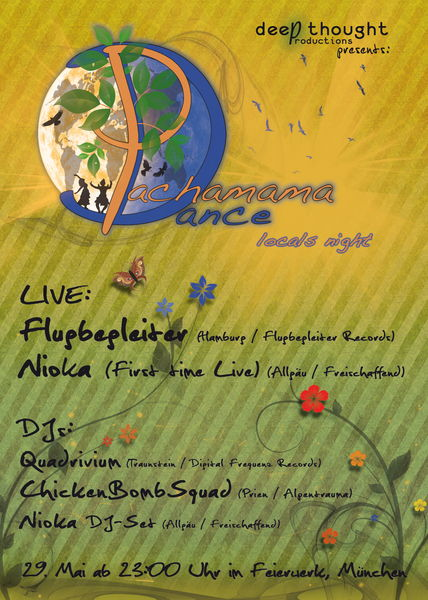 Party flyer: Pachamama Dance - Locals Night mit Dreamsphere 29 May '13, 23:00