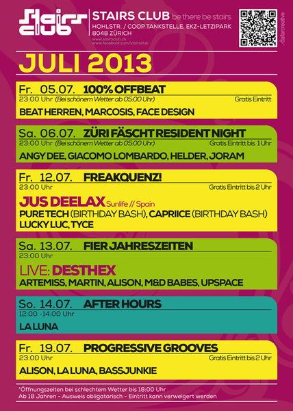 100% OffBeat @ Stairs Club Zürich 5 Jul '13, 23:00