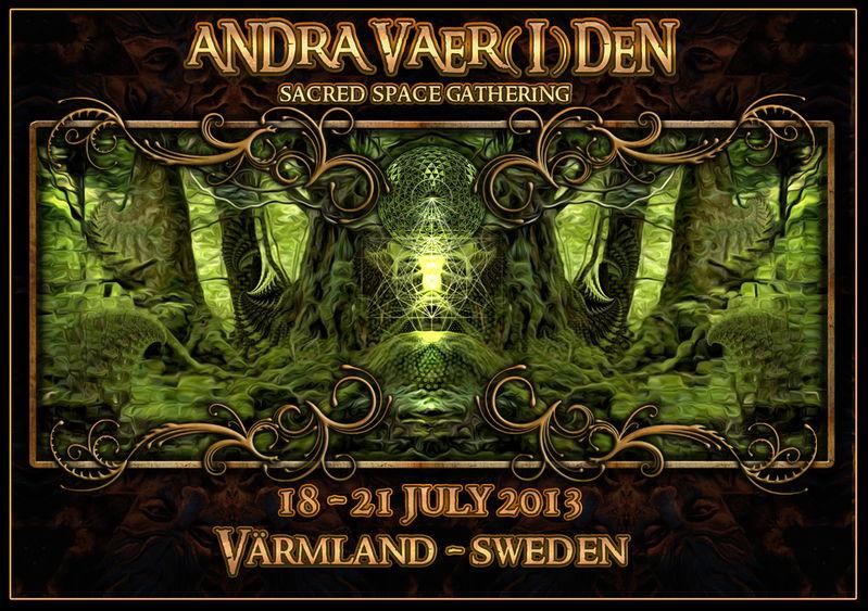 Party flyer: Andra Vaer(l)den - Sacred space gathering 18 Jul '13, 17:30