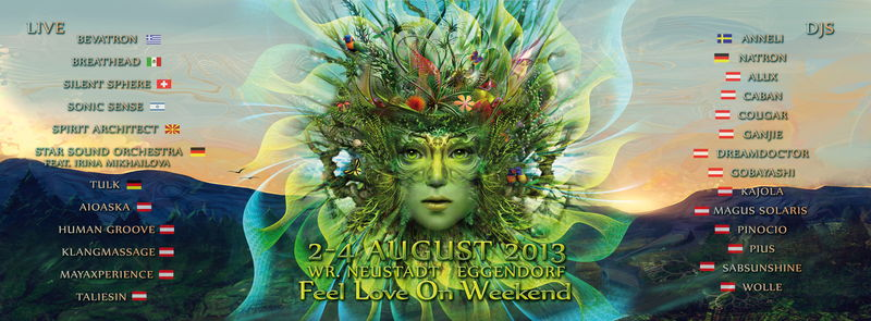 Party flyer: F.L.O.W. 2013 - Feel Love On Weekend (FLOW) 2 Aug '13, 22:00