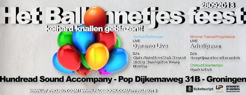 Het Ballonnetjes Feest · keihard knallen geblazen!! 28 Sep '13, 23:00