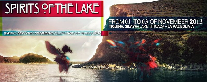 Party flyer: The Spirit Of The Lake 1 Nov '13, 16:00