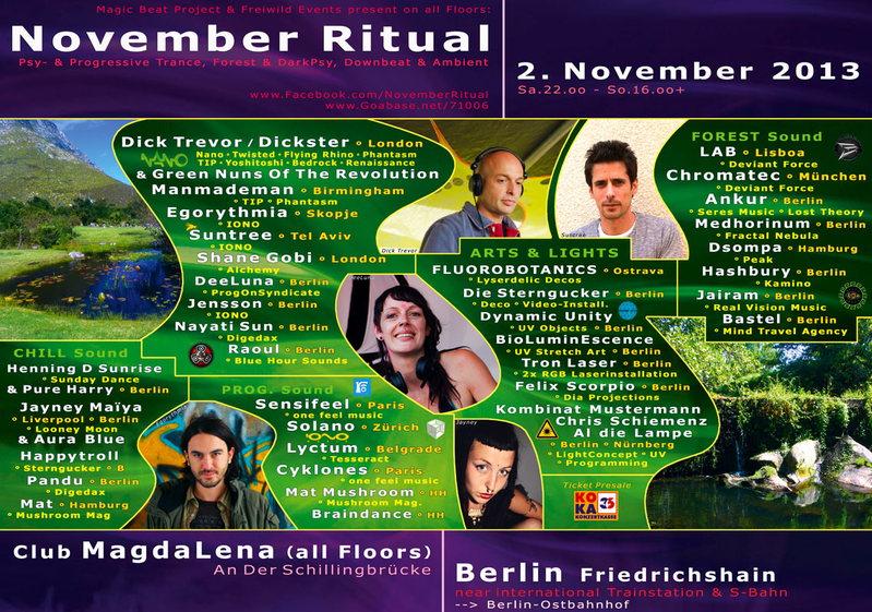 NOVEMBER RITUAL 2013 - berlins finest indoor ;-) 2 Nov '13, 22:00