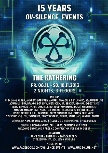 15 YEARS OV-SILENCE EVENTS - The Gathering 8 Nov '13, 23:00