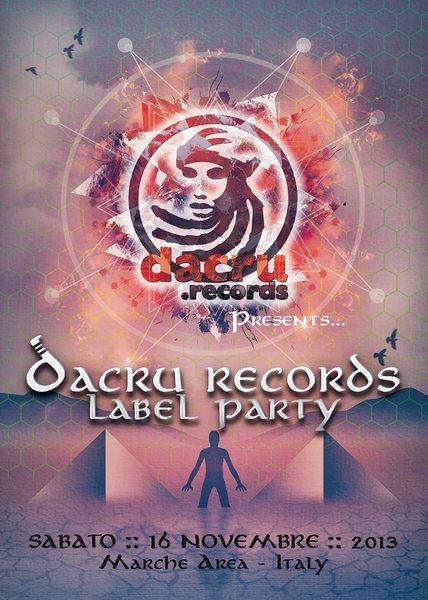 DACRU RECORDS LABEL PARTY 16 Nov '13, 18:00