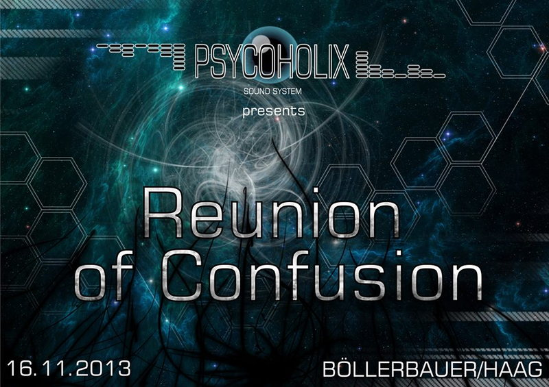 Party flyer: PsycoholiX presents: Reunion of Confusion 16 Nov '13, 22:00