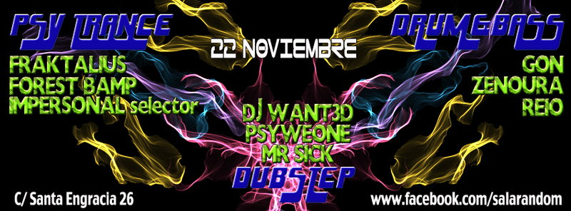 PSY-NIGHT @ RANDOM 22 Nov '13, 23:30