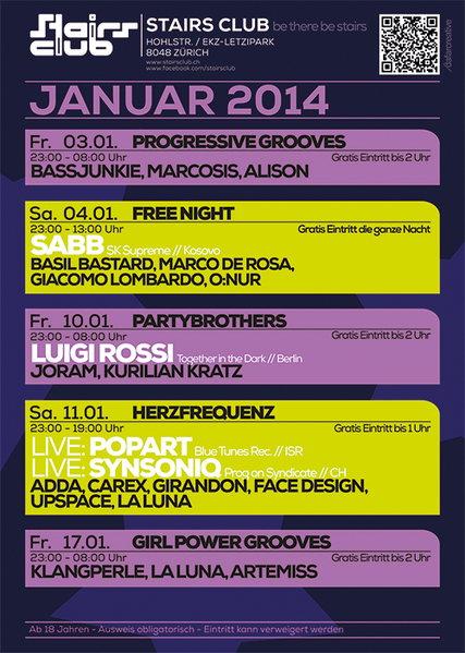 Progressive Grooves 3 Jan '14, 23:00