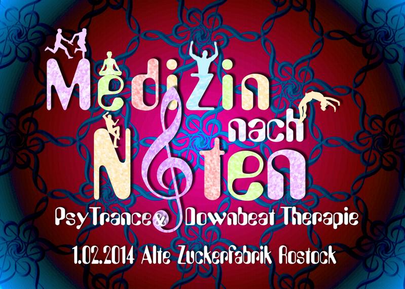 Party flyer: Medizin nach Noten Psychedelic Trance & Downbeat Therapie 1 Feb '14, 22:00