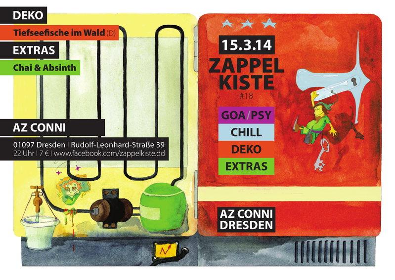 Party flyer: Zappelkiste 15 Mar '14, 22:00