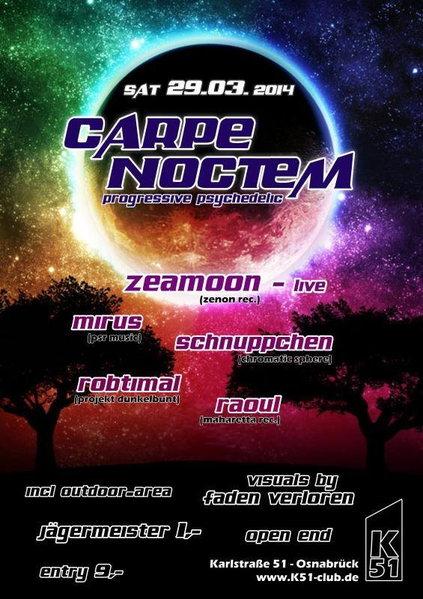 Carpe Noctem! Zeamoon Live 29 Mar '14, 23:00