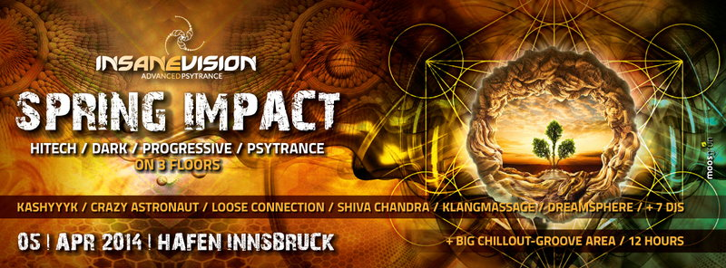 INSANE VISION pres. ★SPRING IMPACT★- on 3 FLOORS 5 Apr '14, 22:00