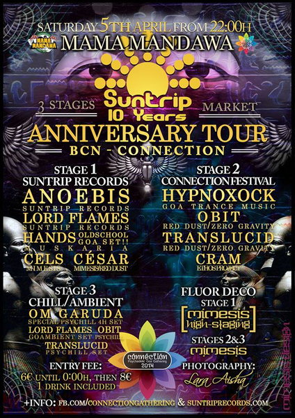 SUNTRIP RECORDS TOUR 10 ANIVESARY & BCN - ●ૐ● CONNECTION 5 Apr '14, 22:30