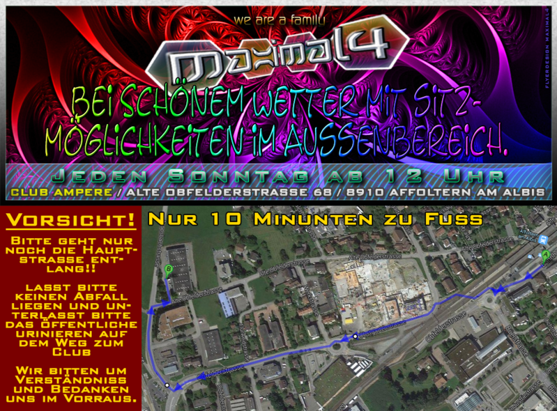 SUNDAY AFTERHOUR ((MAXIMAL4)) - CLUB AMPERE in Affoltern am Albis 6 Apr '14, 12:00