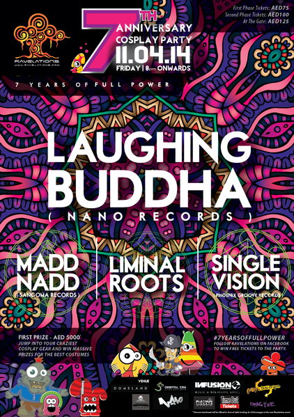 ravelations 7th anniversary cosplay party feat laughing buddha nano