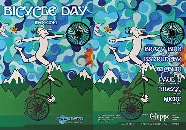 Bicycle Day 19 Apr '14, 23:00