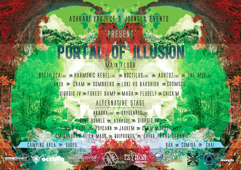 Party flyer: PORTAL OF ILLUSION - 24H OpenAir Psychedelic Gathering - 7 Jun '14, 16:00