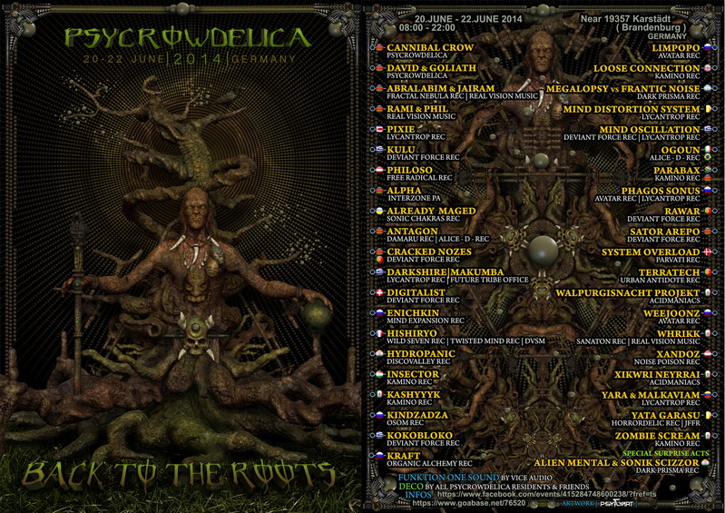 PSYCROWDELICA - BACK TO THE ROOTS 20 Jun '14, 08:00