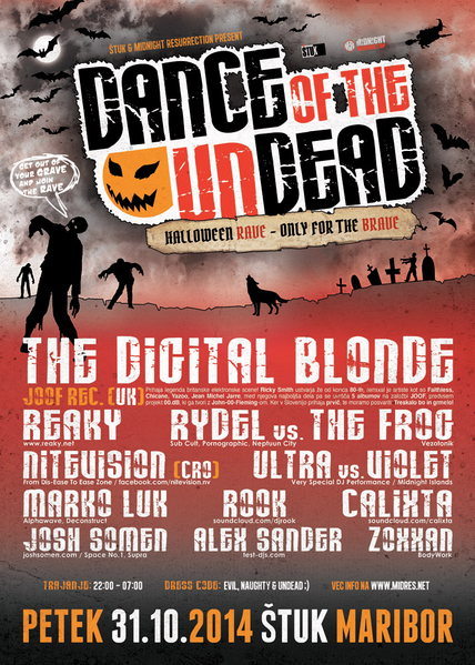 Midnight Resurrection pres.: Dance Of The Undead 31 Oct '14, 22:00