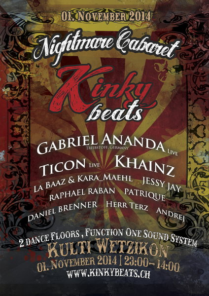 KInky Beats - Nightmare Cabaret 1 Nov '14, 23:00