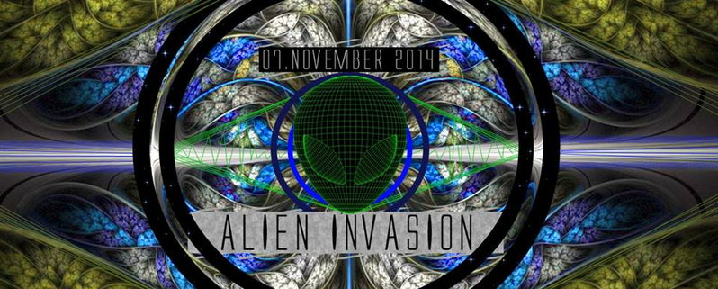 Alien Invasion // 2 Big Floors // With Antispin / Paralocks / Insector · 7  Nov 2014 · Berlin (Germany) · Goabase ॐ Parties And People