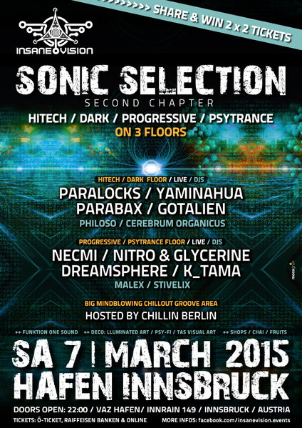 INSANE VISION pres. ☆ SONIC SELECTION ☆ - the second chapter 7 Mar '15, 21:00