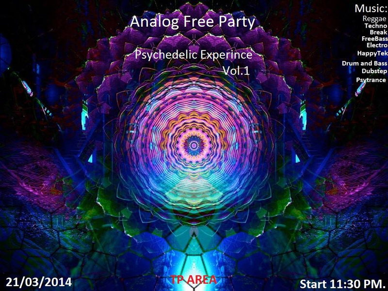 party flyer ॐanalog free party ॐ spring equinox ॐ 21 mar 2015