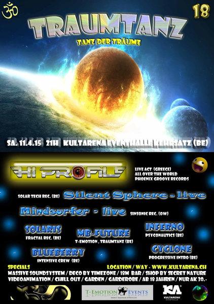 Traumtanz 18 ~ T-Emotion-Events ~ Kultarena 11 Apr '15, 21:00