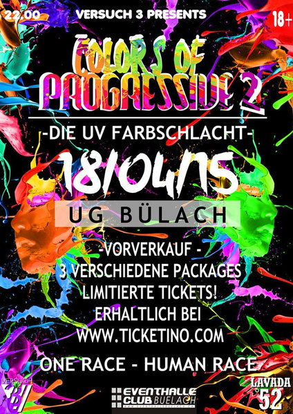 ••◄█ COLORS OF PROGRESSIVE PART 2 █ ►•• DIE UV FARBSCHLACHT - 18 Apr '15, 22:00