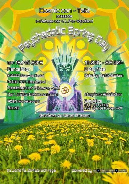 Cosmic con-Takt präsentiert Psychedelic Spring Day umsonst & draussen 16 May '15, 10:00