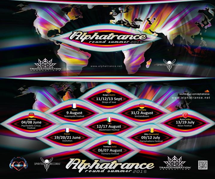 Party flyer: ALPHATRANCE TRANCEMIGRATION TOUR 2015 4 Jun '15, 16:00