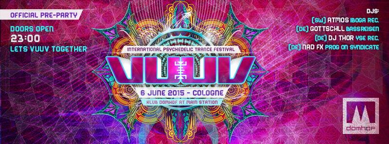 ✖ KLUB DOMHOF | VuuV Official Pre-Party mit ATMOS 6 Jun '15, 23:00