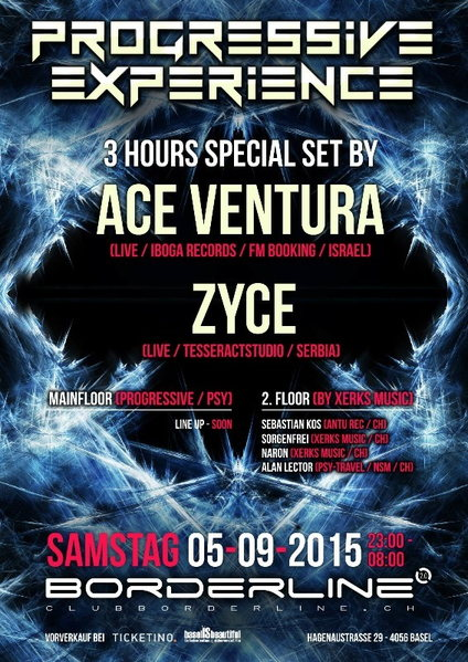 Progressive Experience with ACE VENTURA (Special 3 hours set) / ZYCE 5 Sep '15, 23:00