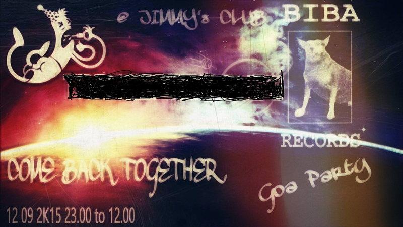 COME BACK GOA PARTY 12 Sep '15, 22:00