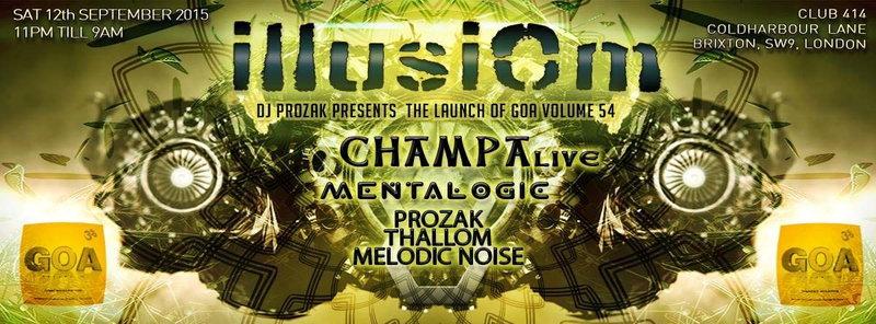 ILLUSIOM Presents: Goa Vol 55 Album Launch Party 12 Sep '15, 23:00
