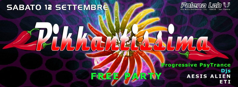 PIKKANTISSIMA - HOT FREE PARTY 12 Sep '15, 23:30