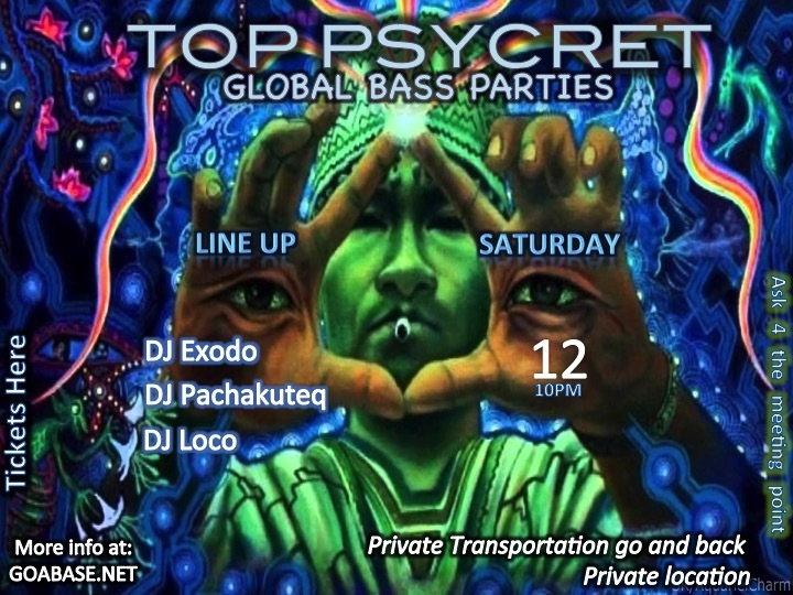 TOP PSYCRET GLOBAL BASS PARTIES 3 12 Sep '15, 22:00