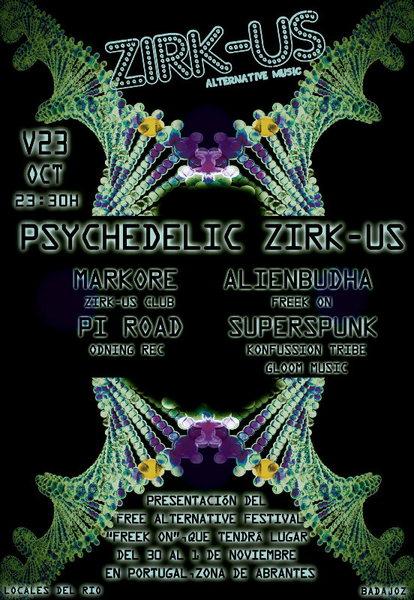 Psychedelic Zirk-Us 23 Oct '15, 23:30