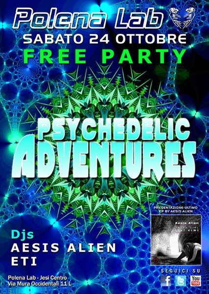 PSY ADVENTURES 2.0 - FREE PARTY 24 Oct '15, 23:30