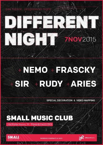 DIFFERENT NIGHT - psy & progressive trance party 7 Nov '15, 23:00