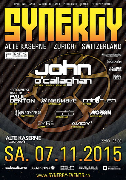 SYNERGY with John O'Callaghan 7 Nov '15, 22:00
