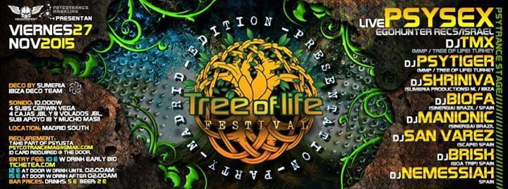 Tree of life festival presentation madrid psysex live - Mmp living espana ...